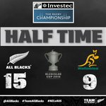 HT | @AllBlacks have the slight advantage at the break through two tries to @izzy_dagg.  #NZLvAUS #BledisloeCup https://t.co/cT72vzTM2o