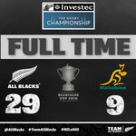 FT | The @AllBlacks retain the #BledisloeCup with a four try win in Wellington! #NZLvAUS https://t.co/mXeIW4DBpe