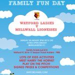 Looking forward to tomorrows @Watfordladiesfc Family Fun Day, the Trust will be there, will you? #watfordfc https://t.co/vAnbvVVsdU