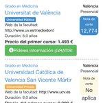 Requisitos para estudiar Medicina en UV: nota 12.7 y 1500 €. Y en la Católica: nota 5 y 10.000 €. ¿Becas para quién? https://t.co/vBgzD1DWoo