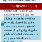 """""""An uncontained Pak will destroy the World """"Brahumdagh Bugti .thanking PM Modi fr raising the voice of Baloch People https://t.co/GB0rkbkl9J"""