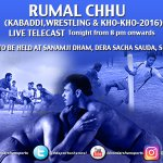 Watch the LIVE telecast of #RUMALCHHU tonight from 08:00pm onwards, only on @ddsportschannel  Dont miss the action! https://t.co/EtlzHg9qgY