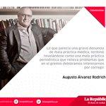 Lee la columna de Augusto Álvarez Rodrich: Malas prácticas (periodísticas) ► https://t.co/ApPbb8BuEn https://t.co/HGJW3rRYzB