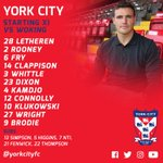 Your York City starting XI and subs against @wokingfc. https://t.co/HIqdqz5NgR