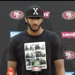 Colin Kaepernick didnt stand for the national anthem and this is the outfit he wore at post game. #Wokepernick https://t.co/H830rOI6eQ
