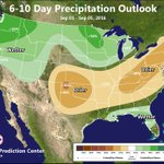 ☔️💧 Cooler temperatures & increased chances of precipitation next week (Sept 1-5) across the West #idwx #orwx https://t.co/wKn5PwAkrJ