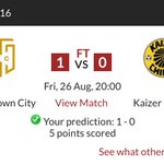 Spot on for last nights game on @Soccer_Ladumas #MTN8 predictor 😎 heres hoping my luck continues! https://t.co/PuIQ4SrcB3