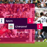 Its over at White Hart Lane - and Danny Roses second-half strike ensures the points are shared #TOTLIV https://t.co/4vfwS9SZFJ