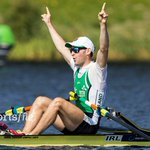 Paul ODonovan celebrates winning gold in the Lightweight Men's Single Sculls Final at the World Rowing Champs! https://t.co/eaASeTBdcz