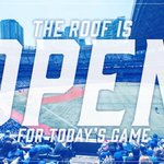 Our partner @SonnetInsurance wants you to know the roof will be open for todays game! https://t.co/0cfvIN4Iir