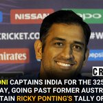 MS Dhoni breaks Ricky Pontings record! #WIvIND #Cricket https://t.co/T5VDKlYLAB