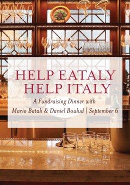 Chefs @MarioBatali & @DanielBoulud team up for a benefit dinner Sept. 6:  https://t.co/RGsE9GQ3hW https://t.co/k2Vuy3vdrg