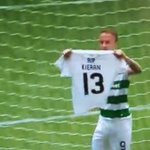 Leigh Griffiths celebrates with a tribute to 13yr old Celtic fan Kieran McDade who passed away earlier this week https://t.co/z2UsyakaGf
