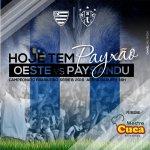 É daqui a pouco! Ô LOBO! 🐺🔵⚪ #PayxaoMudaTudo #OESxPAY #SerieB https://t.co/EMsJWtTS3G