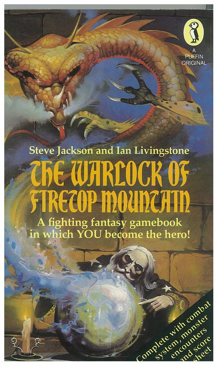 The Warlock of Firetop Mountain first published this day 1982. A big day for Steve Jackson and me @fightingfantasy https://t.co/caZdp3csY0