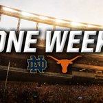 One week until kickoff in the ATX! #HookEm #Believe https://t.co/4dkZBdEtlh