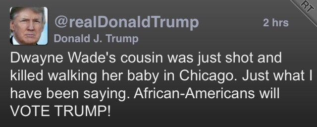 Next time, @realDonaldTrump, you congratulate yourself after a murder - you psychopath - spell the name right #Pig