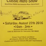 Vintage cars! Support the Mountain View Band today 10:00-2:00! Show cars $20 to enter, spectators get in free! https://t.co/tYhViFVH5x