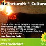 #TuiteaComoUnTaurino #NoALaTauromaquia #TOREOETERNO Al País Valencià no volem bous! https://t.co/BMMQqExV37 https://t.co/pKAusegiCV