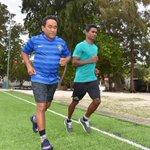 H.E. President Abdulla Yameen completed his training session with @SaidhKalhey #TrainingWithMvChamps @presidencymv https://t.co/PV03oixtiG