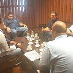 Reunidos con Presidente @oncecaldas para buscar alternativas de apoyo al equipo con @aguasmzl y @EMASManizales https://t.co/TmPjmU6q3c
