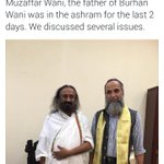 Congrats @SriSri for inching closer to Nobel Peace Prize. Hope terrorists dad, who justified terrorism,got kshama😳😵 https://t.co/gYdtv0lXpX