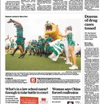 Your @SPRINGHIGHLIONS on the cover of The Houston Chronicle this morning! #wearespring https://t.co/3FJe6gOqxx
