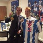 @htafcdotcom  with the main man Dean Hoyle. Thanks for the shirt! 🏅🏅🏅 https://t.co/Ou9cIgo862