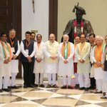 With Prime Minister Shri @narendramodi and CMs/ DCMs of BJP governed states at Maharashtra Sadan,New Delhi. https://t.co/FYDXRH4FVC