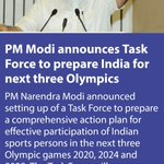 PM @narendramodi announces Task Force to prepare India for next three Olympics https://t.co/zV6E0VApx9 via NMApp https://t.co/aU07rexBHJ