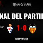 FINAL | Finaliza el encuentro en Ipurúa con derrota por la mínima (1-0) #EibarValencia https://t.co/4ihc3dO6kp