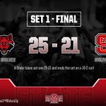The @stAteVolleyball team takes set one 25-21 after a 10-2 run! #WolvesUp https://t.co/sA9W11FRnK