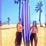 Patrick & Rita from #Ontario #Canada are #stoked after catching #waves on a #Surfing Lesson at #SantaMonica #Beach 🏄 https://t.co/T6T7fd3tVC