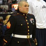 Kaepernick refusing to stand for natl anthem is his right. Heres a Marine, who cant stand, because he defended it https://t.co/mLjTUPQ2pm