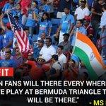 MS Dhoni on Indian fans! #WIvIND #Cricket https://t.co/YO2FNbesZo