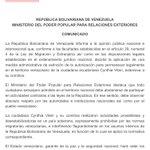 Gobierno de #Venezuela dice que deportó a Cynthia Viteri por realizar actividades proselitistas y desestabilizadoras https://t.co/TGF88GZ4Mn