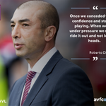 Press Conference: Roberto Di Matteo calls for cool heads when the heat in on during games. #AVFC #BRCAVL https://t.co/OKo7CmKZSy