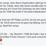 VIP findens wohl nich so dolle. #noifc #le2708 https://t.co/JNOPHRQ5cC