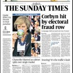 Our front page: Corbyn hit by electoral fraud row #tomorrowspaperstoday https://t.co/nIRfHE40zk