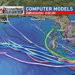 Latest computer model forecasts are disagreeing on future track of Invest 99L. @CBS12 https://t.co/9SwhuVtEfn
