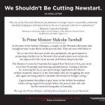 Prominent Australians urge PM: Don't cut Newstart.  @TheAusInstitute media release here: https://t.co/p6vOeWNZdi https://t.co/P5LO3Sed3q