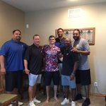Great to See The Fighting Jayhawk Ryan Schadler and his family today in Newton. #Family #hewillbeback! https://t.co/imInIizlto