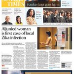 Top story today, August 28: Aljunied woman is first case of local Zika infection. More on https://t.co/IEVsToAcJA https://t.co/MZ4AZluJfd