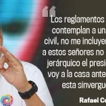 Presidente Rafael Correa dice que insultos de militar no quedarán en la impunidad » https://t.co/nS5M1OjpZl https://t.co/OvQWITE0ey