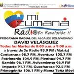 #IMPERDIBLE | Todos los martes, de  8 a 9 AM, el Programa #MiCumanáRadio, del Alcalde de #Cumaná @davidvpsuv https://t.co/1ffzLketSG