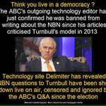 Turnbull chief shutter down of transparency about his #NBN failure- AFP now doing his dirty work #insiders #auspol https://t.co/Sh5qSG0KKF
