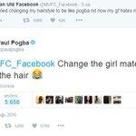 """Saçları Pogba gibi yaptım, kız arkadaşım benden nefret ediyor diyen taraftara Pogba: """"Saç kalsın, kızı değiştir."""" https://t.co/Lj00gDd2xp"""