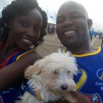 Rotary cancer run #NBSCSR meet 3 month old Roxy with @KatabiraDaniel1 at Kololo Airstrip for the #RotaryCR16 @nbstv https://t.co/twsX1GLj7x