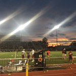 Friday night lights with a beautiful sun set. @KleinCollins https://t.co/Vy1P6eeGrQ