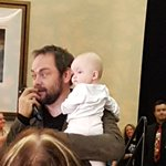 @Mark_Sheppard and Isabella together at #vancon. so adorable! hes a wonderful father!  photos by @FangasmSPN https://t.co/6yUwTP6bhG